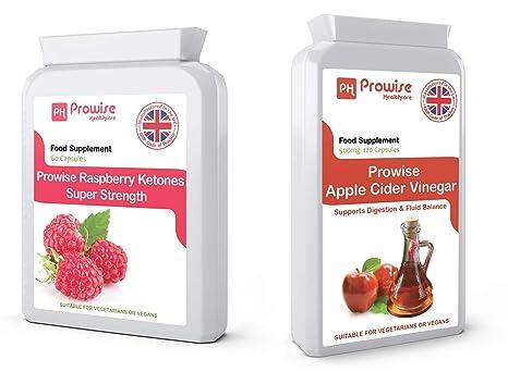 Paquete combinado de vinagre de sidra frambuesa y manzana de Prowise