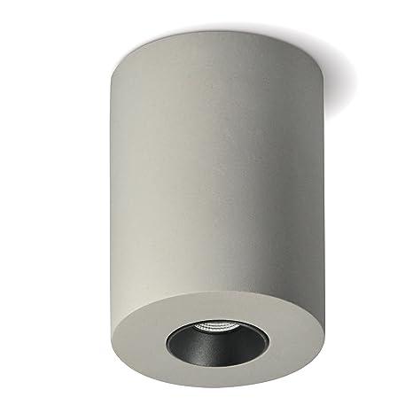 Lámpara de techo plafón Aufputz grande (redondo, gris) 4.2 W ...