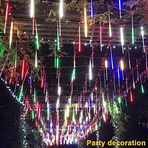 2018 New Party LED Lights Meteor Shower Rain Snowfall Xmas Tree Garden Outdoor Purple #NE815 -
