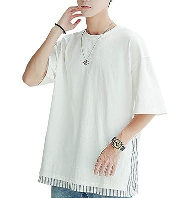 974c95ab2b3701 Amazon | Tシャツ メンズ 半袖 Tシャツ 七分袖 Tシャツ 五分袖 速乾 無地 ...