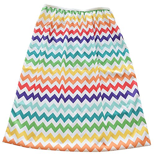 Reusable Diaper Pail Liner for Odorless Cloth Diapers Pail or Laundry (Rainbow Chevron)