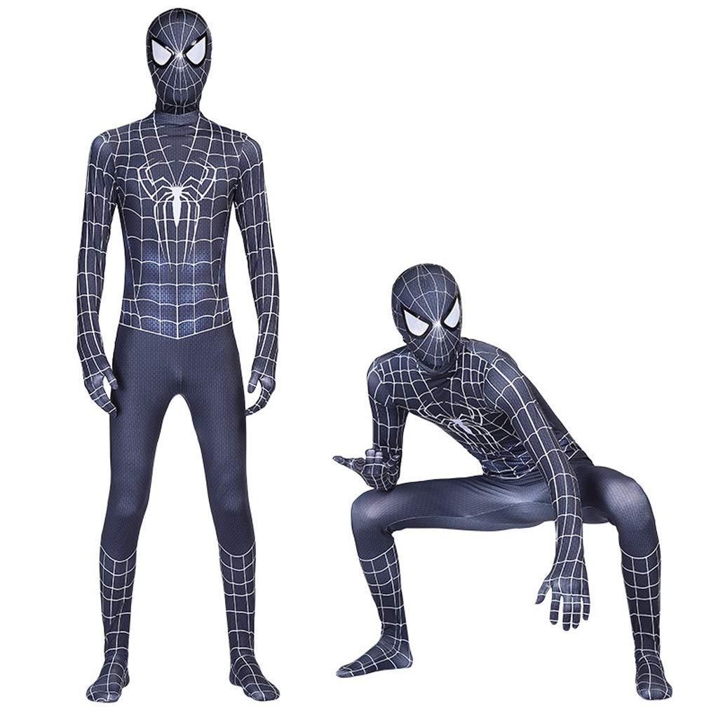 HYYSH Traje Negro de Spider-Man Medias de impresión en 3D Cosplay ...