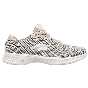 Skechers Go Walk 4 Glorify Casual Shoes 2018 Women Taupe Medium 5.5 ... e36d50269198e