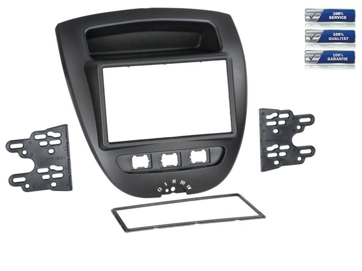 Doble DIN de radio para Toyota Aygo/Citroën C1/Peugeot 107 * Negro *: Amazon.es: Electrónica