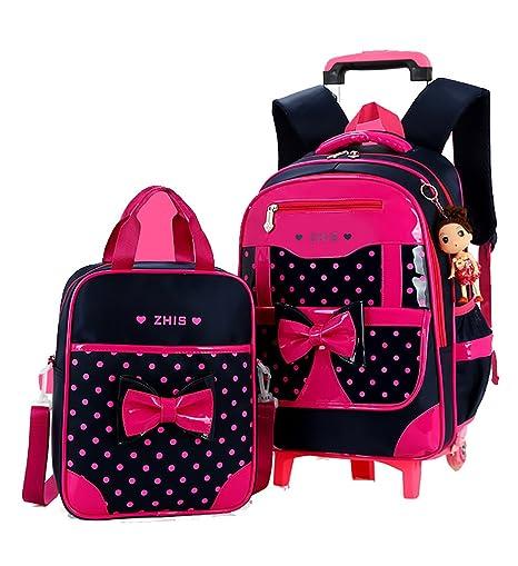 a2b50b6300d4 Meetbelify Rolling Backpacks For Girls School Bags Trolley Handbag ...
