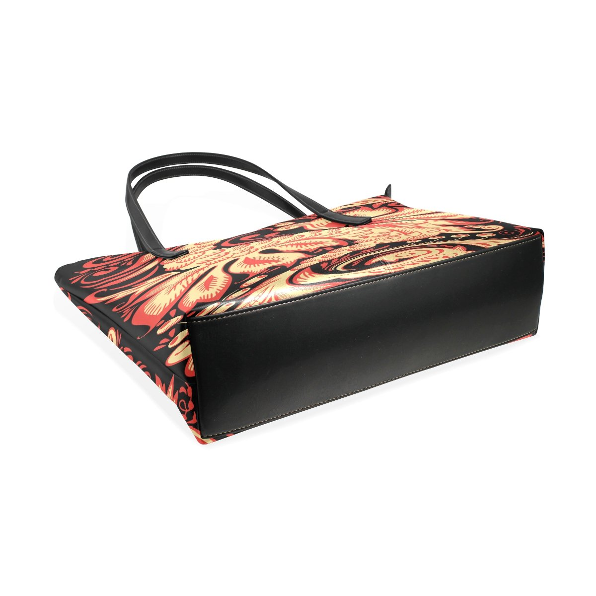 Women Leather Handbags Phenix Figure Top Handle Shoulder Bags