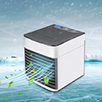 2019 Latest Personal Air Cooler Fan, Portable Air Conditioner, Humidifier, Purifier 3 in 1 Evaporative Cooler with 3 Speed, Mini AC USB Cooling Desktop Fan for Bedroom, Travel, Office