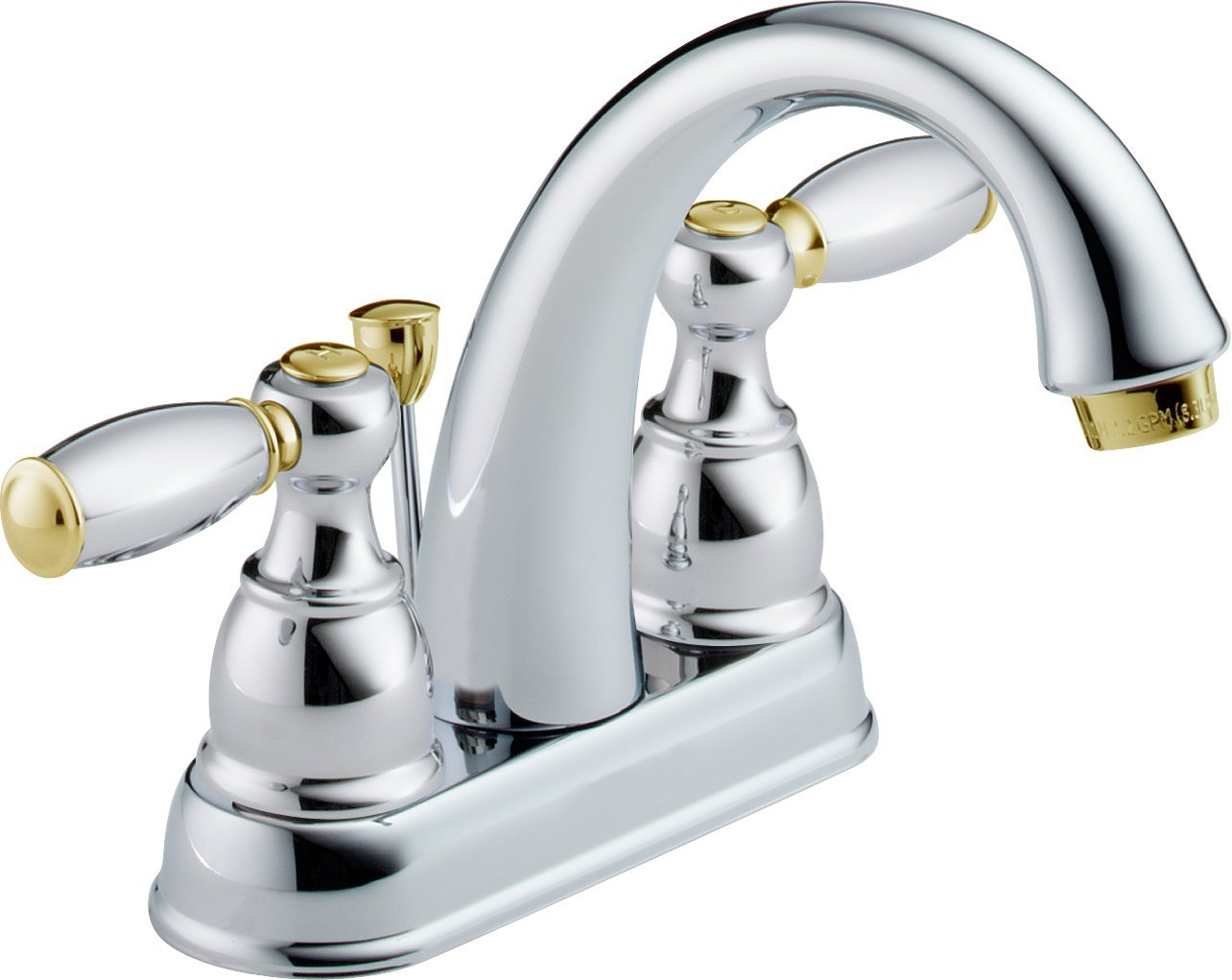 Delta 25995LF-CB-D Two Handle Centerset Bathroom Faucet, Chrome/Brass