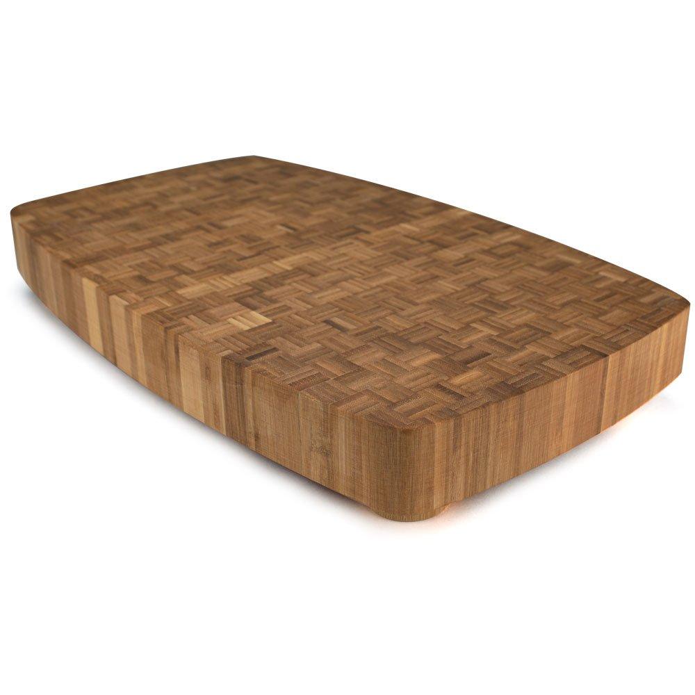 Kÿchen Dark Mocha Natural Bamboo Butcher Block, 19.5'' x 11.75'' x 2'' by Kÿchen