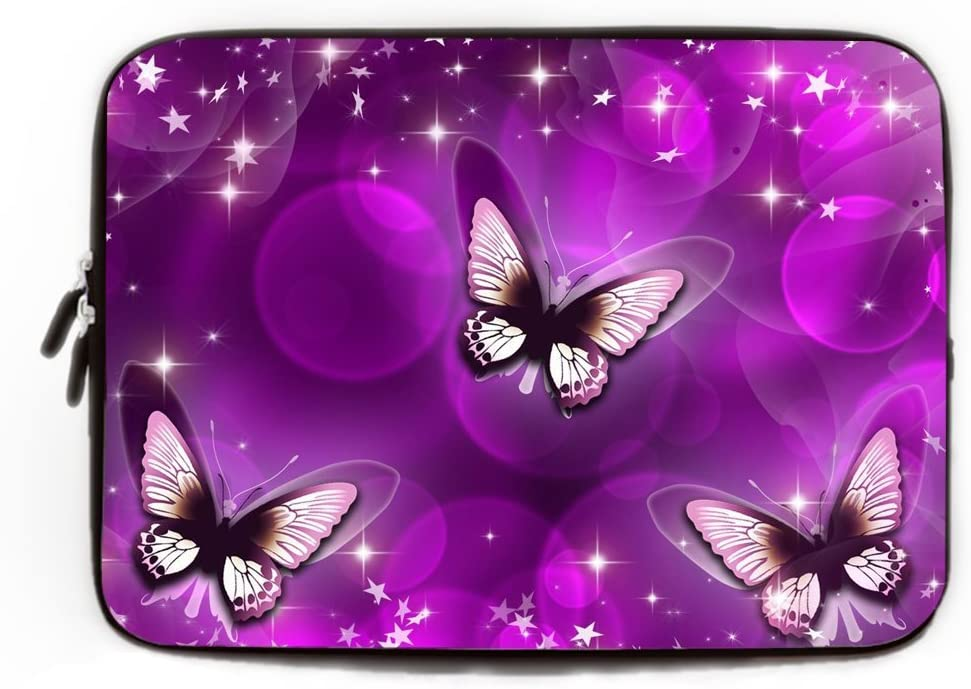 Apple Laptop Case Gifts for Women Purple Butterfly Computer Sleeve 11.6-12 Inch Trendy Laptop Sleeve for Women Computer Case for Laptop for Apple MacBook Air Ultrabook Asus Fujitsu Notebook Sleeve