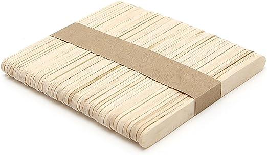 JIAY - Lote de 50 palos de helado de madera para niños, artesanía ...