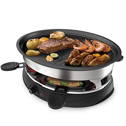 Amazon.com: Barbecue Frying Pan Teppanyaki Electric Party Grill Machine - Indoor Hotplate BBQ For Table Top Cooking Non-Stick Cooking Hot Plate: Sports & ...