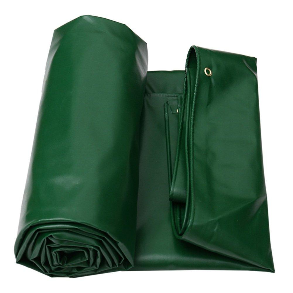 LQQGXL 防水不凍剤日焼け止めトラック防水シート耐腐食性耐摩耗性PVCグリーン 防水シート (色 : Green, サイズ さいず : 4×4m) 4×4m Green B07J9RCRMD