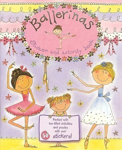 BALLERINAS Sticker & Fun-Filled Activity Book! Dot to Dots, Mazes! Puzzles! 11