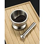 3S Stainless Steel Spice Grinder/Mortar and Pestle Set 12 BEST MANUAL SPICE GRINDER TOOLS-mortar and pestle with heavy duty stainless steel safe and more wearable,Continuous use of up to 10 years. EASY TO CLEAN-no matter grinding,pounding,crushing or something powerful it always standing there without any damage,it easy to wash it with soft towel or fabric. MULTI FUNCTION-There are lots of kitchen and household uses, including turning prescription tablets into a powder, crushing fresh herbs, grinding spices, etc.