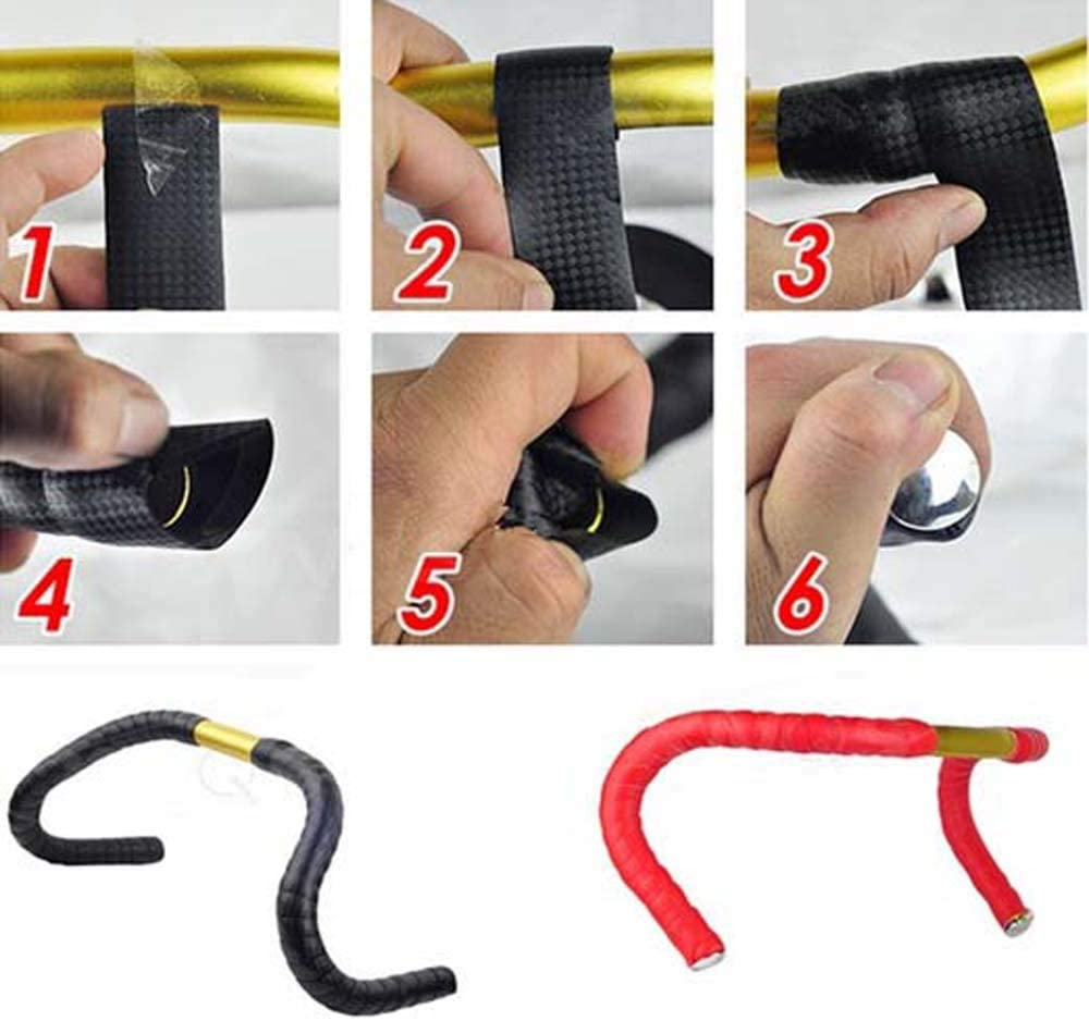 Correas de Bicicleta Manillar cintur/ón Cinta HZL D2 Piezas de Bicicleta Antideslizante Manillar Barra antivibraci/ón Bicicleta agarra Cintas
