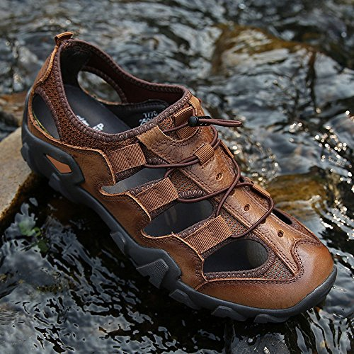 Sandali da Baotou Scarpe Casual Brown Shoes Fashion Uomo Beach yca6OP47y