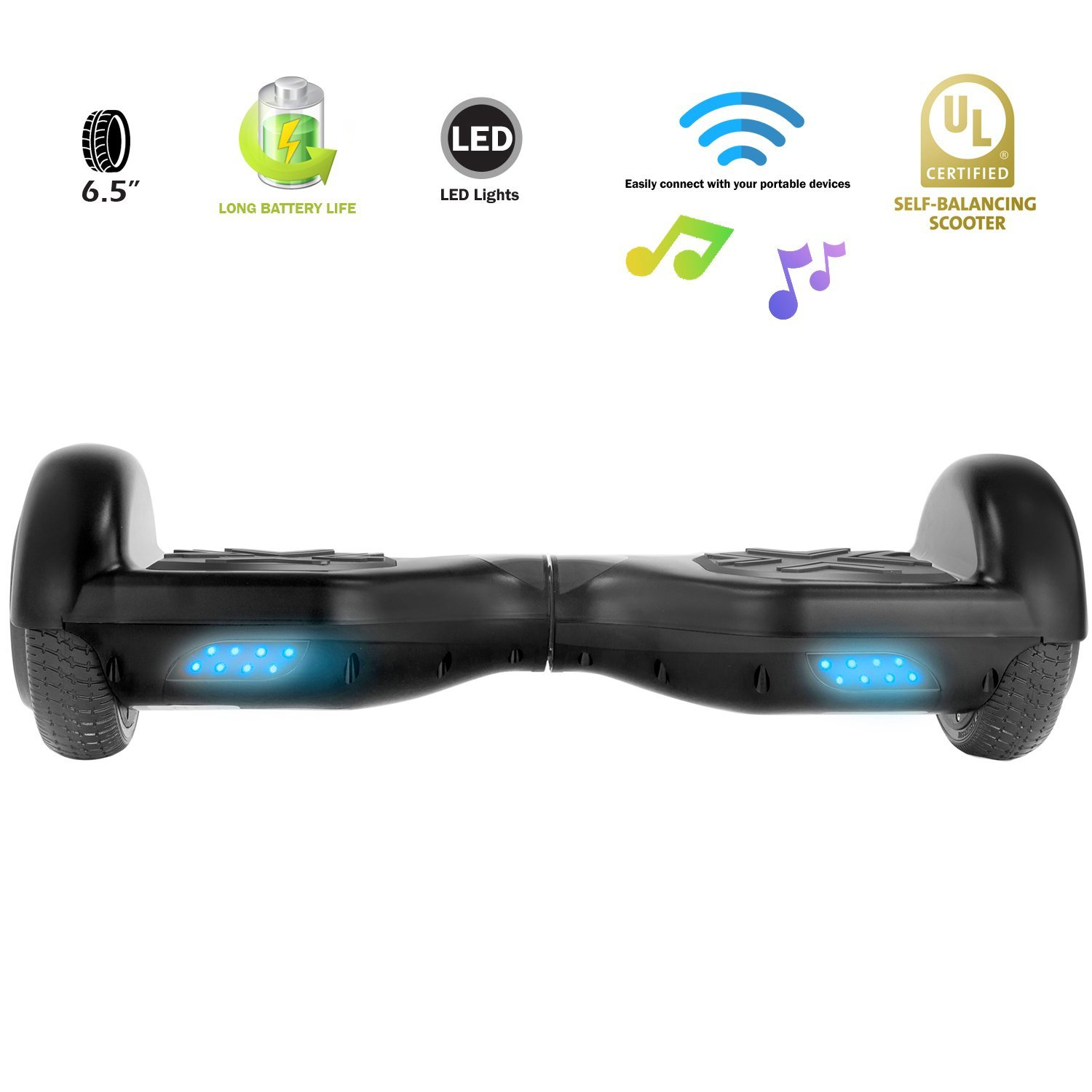 XPRIT Hoverboard w/Bluetooth Speaker (Black) by XPRIT (Image #4)