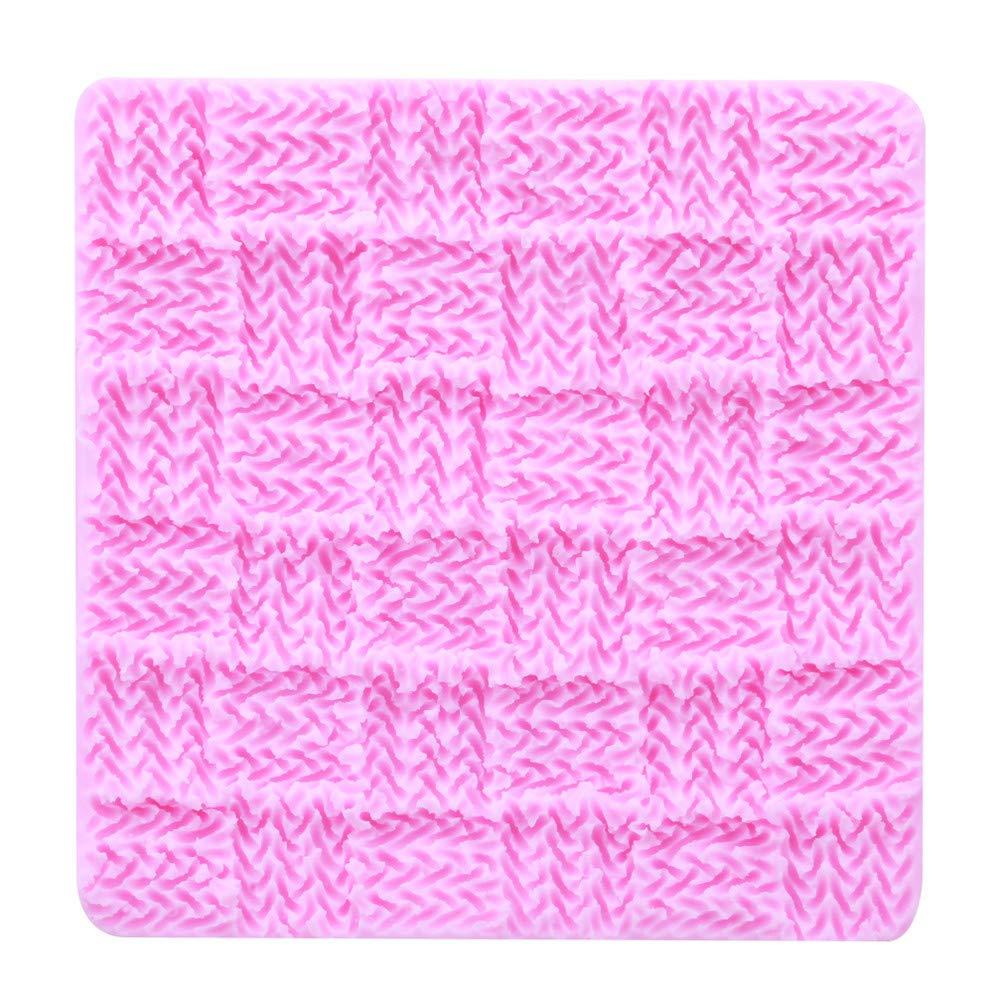 Flybloom Silicone Moulds Knit Texture Shape DIY Fondant Chocolate Sugarcraft Cookie Mold Cake Decor Baking Tools HeShengFactory