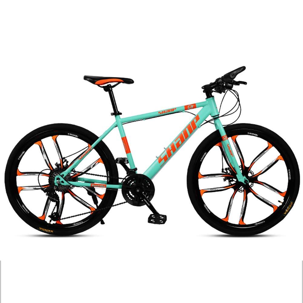 自転車、マウンテンバイク、26インチ30スピード、素材高炭素鋼、前後の機械式ディスクブレーキ、滑り止めタイヤ,Green B07JBVH6S5 Green Green