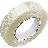 Filamenttape, glasvezelband, verstevigde rasterband, plakband, transparante glasvezelband, verpakkingstape (1 rol), 50 m…