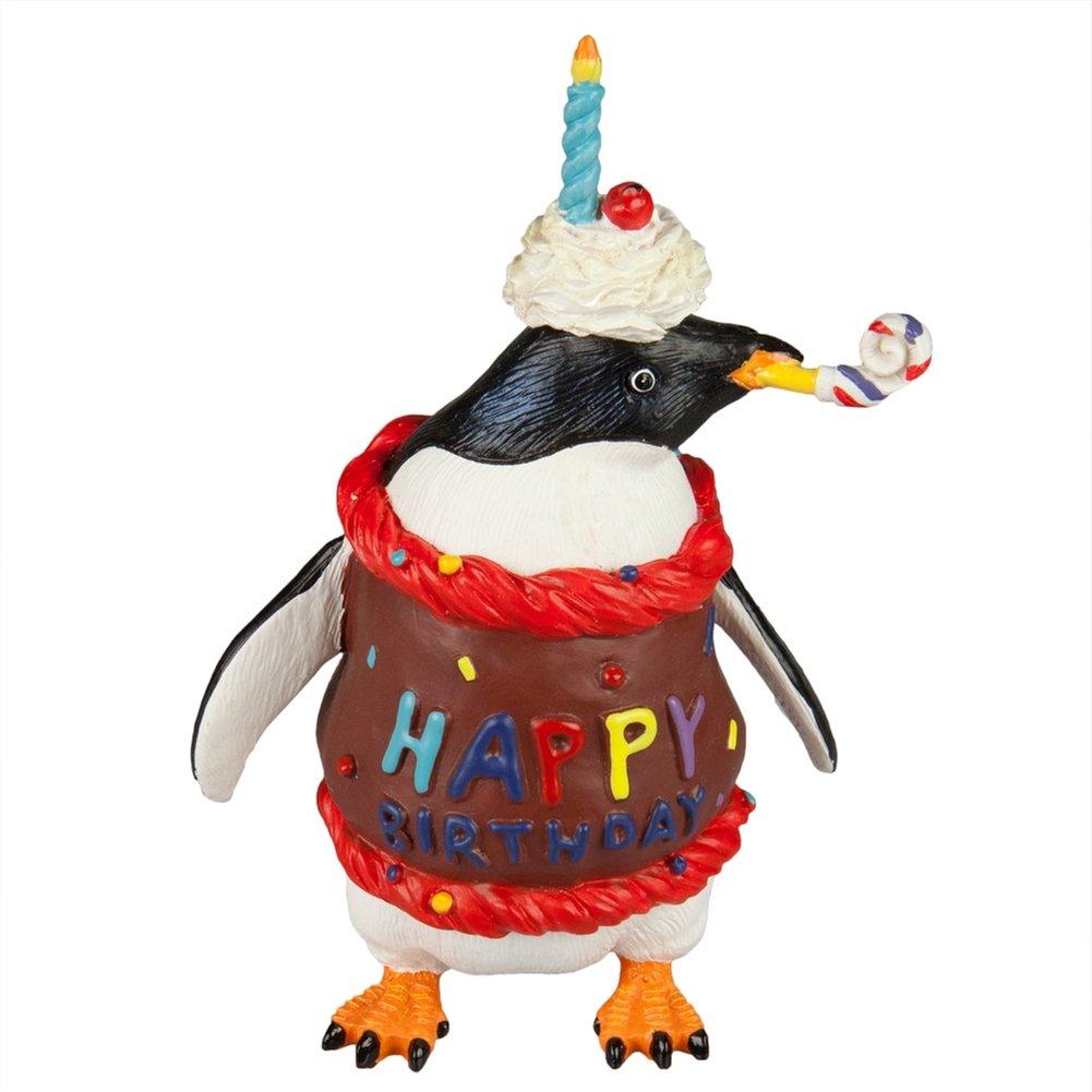 Birthday Party Celebration Candle Penguin Figurine NeW