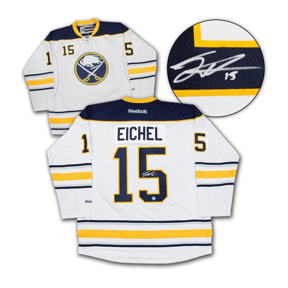 Autographed Jack Eichel Jersey - White Reebok Premier - Autographed NHL  Jerseys at Amazon s Sports Collectibles Store a7e9494e9