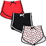 Whear Child Girls 3 Pack Athletic Shorts,Dolphin Yoga Workout Shorts,Pull On Summer Casual Sports Running Shorts
