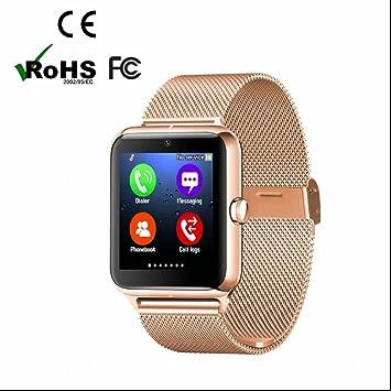 Reloj Intelligent Smart Watch Teléfono con Alertas de mensajes Contador de Calorias Fitness Tracker con Monitor