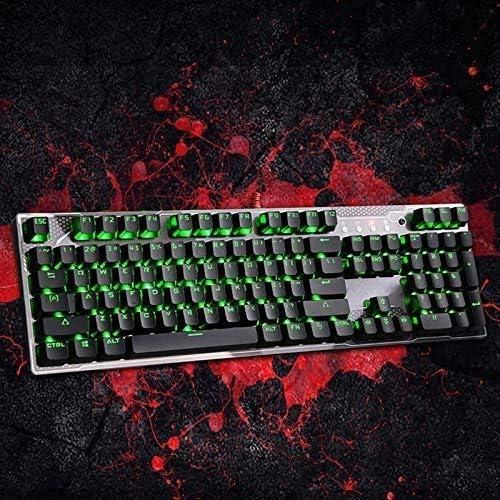 LMDH Mechanical Gaming Keyboard-Backlit Wired Gaming Keyboard for PC and Mac Gamers-Pro Gamers