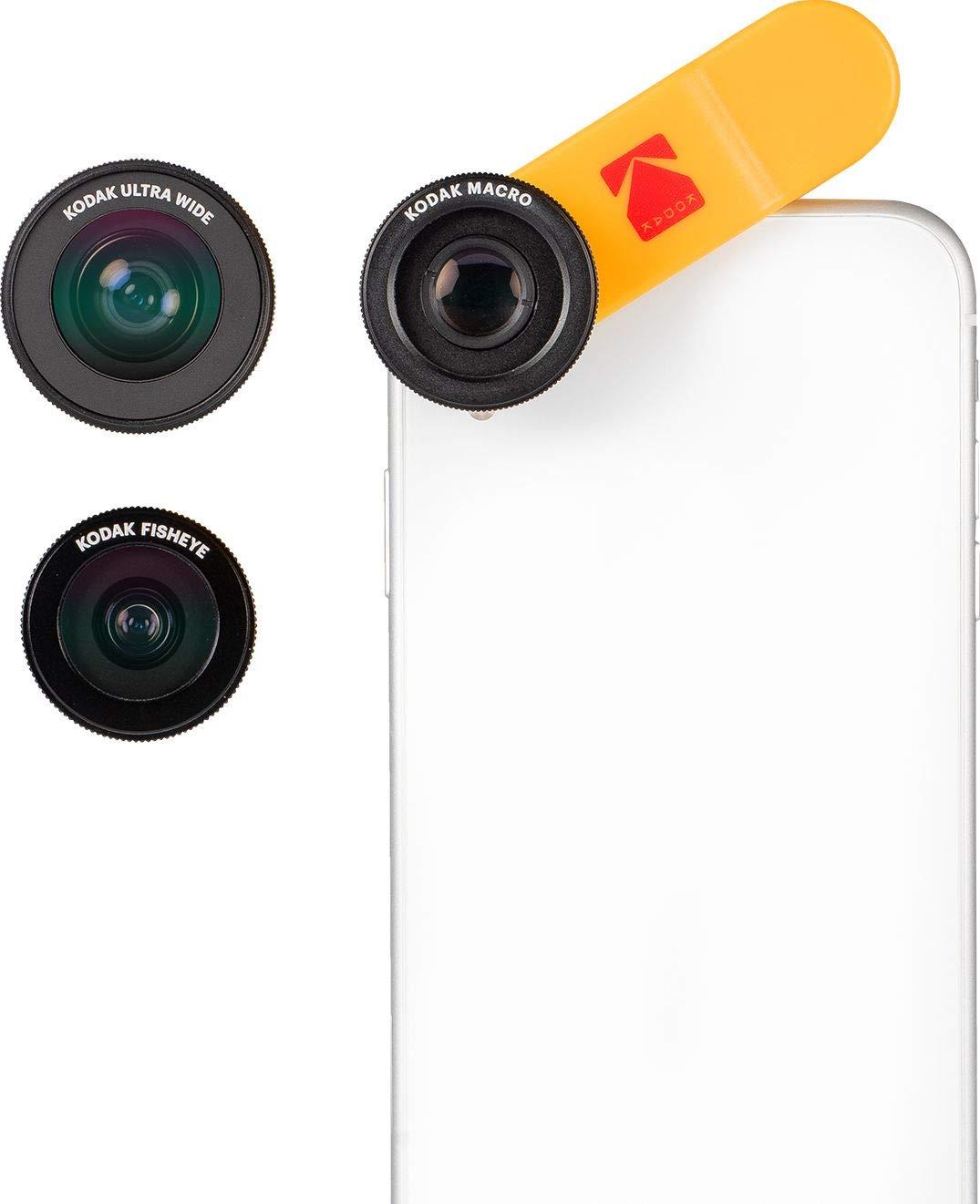 KODAK Smartphone 3-in-1 Lens Set Ultra Wide + Macro + Fisheye by KODAK
