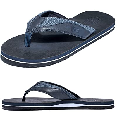 Anbenser Men's Sandal Flip Flop Classical Soft Foams Antislip Comfortable EVA Rubber Fast Dry Bathroom Slider Sandals Bath Slippers(Navy, 9D(M)) | Sandals