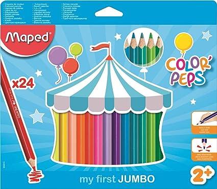 Maped Color Peps Jumbo - Pack de 24 lápices de colores: Amazon.es ...