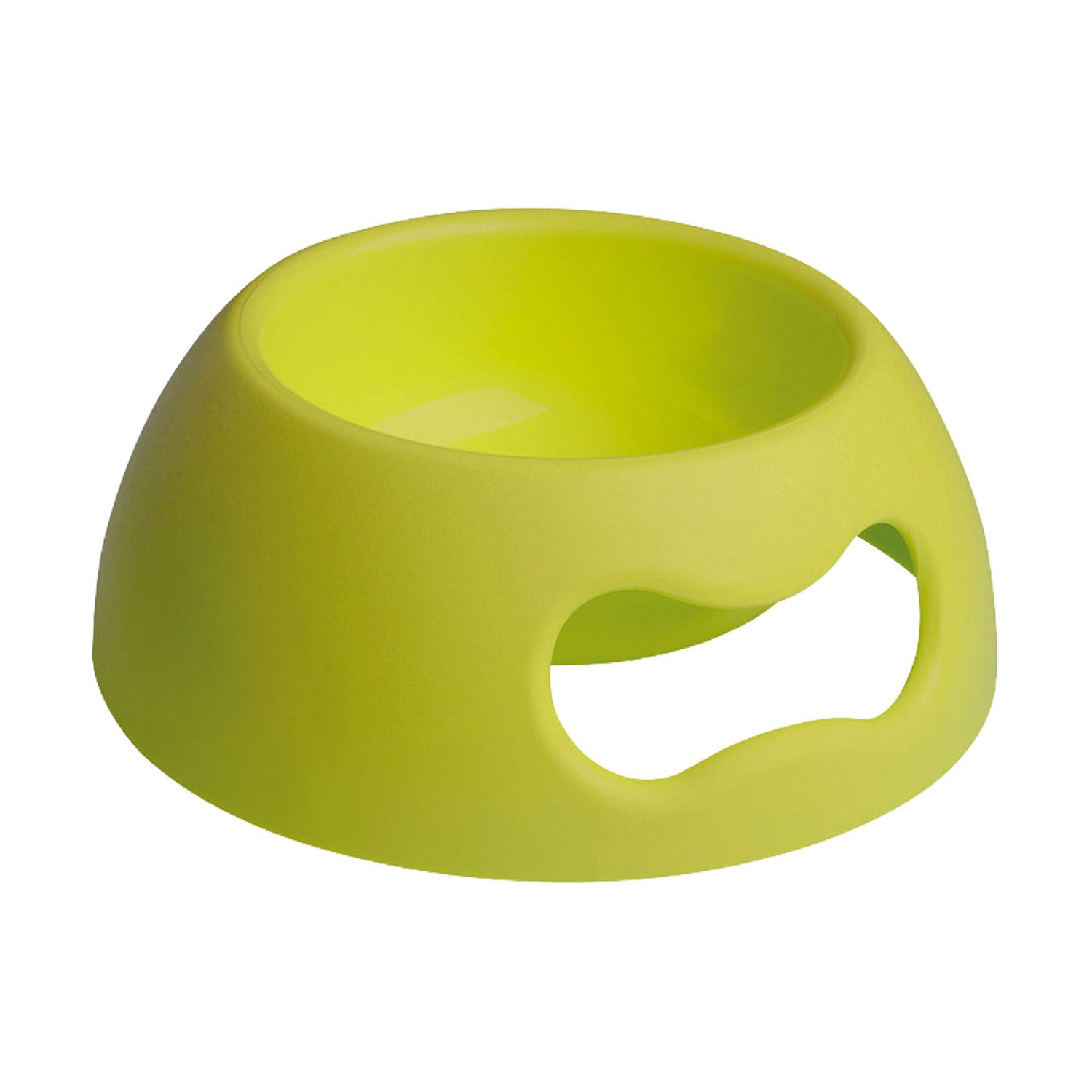 Petego United Pets Pappy Pet Food and Water Bowl, Green, Holds 36 Ounces