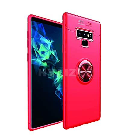 HYAIZLZ Kickstand Galaxy Note 9 Case Soft TPU Hidden Kickstand Note 9 Back Case Cover with Car Magnet Function for Samsung Galaxy Note 9,Color Red ...
