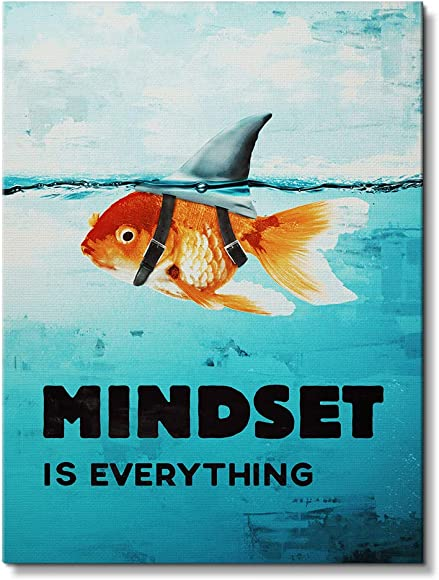 IKONICK Mindset is Everything Motivational Canvas Wall Art