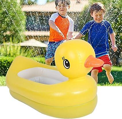 Bañera de Patito Amarillo Inflable Pequeño Flotador de Pato ...