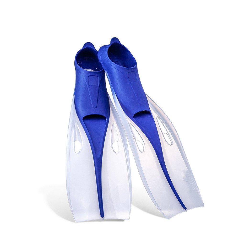 フルフットシュノーケリングフィンダイビングフィン、スイミング、シュノーケリング、水泳活動、スイミングレッスン ダイビングフィン (色 : 青, サイズ : XL) B07PSP27GY 青 X-Large