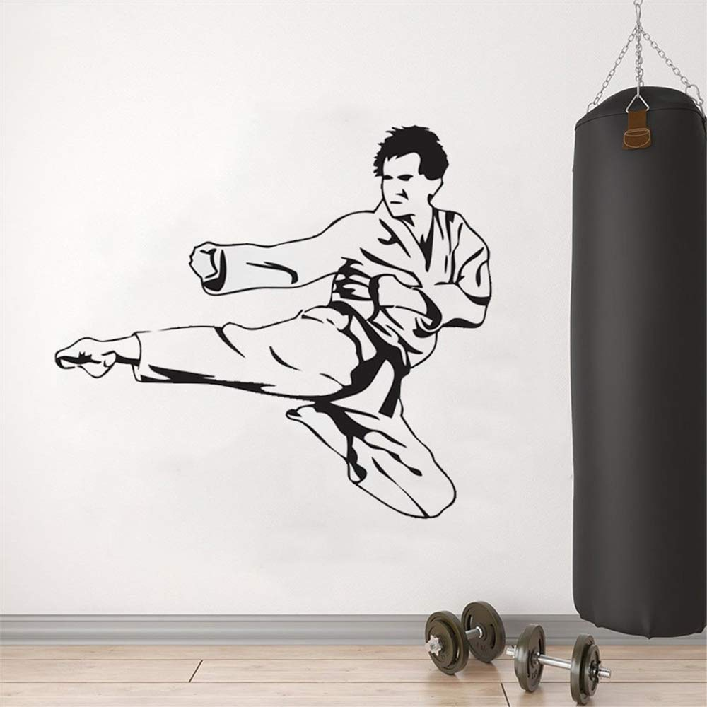 Wall Art Decal Sticker Words Wall Saying Words Removable Mural Karate Wall Sticker Decor for Kids Bedroom Karate Hall Freestyle Sports by Cenrial