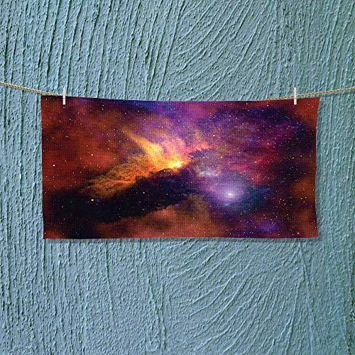 Nalahome Travel Towel Collection Space Stars and Nebula Gas and Dust Cloud Celestial Solar Galacy System Luxury Hotel & Spa Towel L27.5 x W13.8 inch by Nalahome