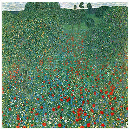 (ArtPlaza TW90403 Klimt Gustav - Poppy Field Decorative Panel 43.5x43.5 Inch Multicolored)