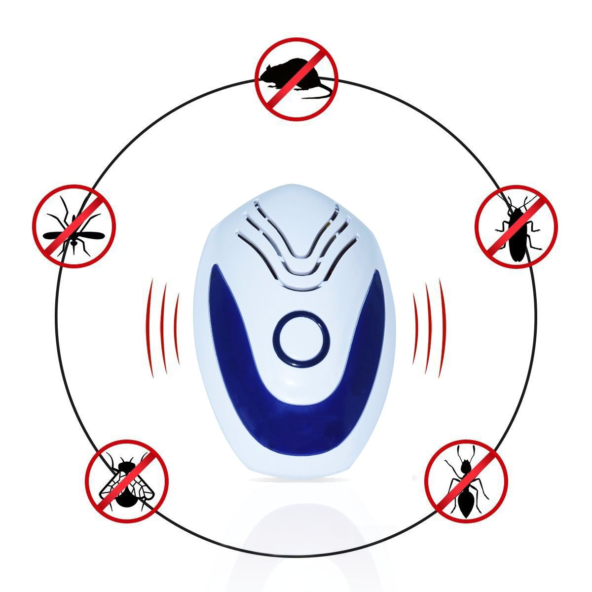 Eyhome Ultrasonic Pest Repellent, 6 Pack Electronic Plug In Pest Control Repeller, Pest Reject for Mice, Spiders, Roaches, Mosquitoes, Ants , Rats, Flies, Bugs, Human & Pet Safe