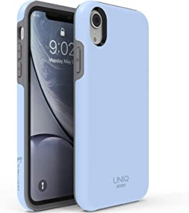 "TEAM LUXURY XR iPhone Case, [UNIQ Series] Ultra Defender Shockproof Hybrid Slim Protective Cover Phone Case for Apple iPhone XR 6.1"" - Light Blue/Gray"