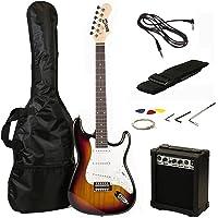 RockJam RJEG02-SK-SB ST Style Electric Guitar Super Pack with Amp, Gig Bag, Strings, Strap, Picks, Sunburst