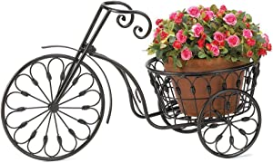 New Iron Bicycle Plant Flower Stand Pot Home Garden Patio Indoor Outdoor Decor
