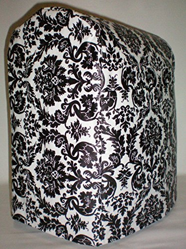Black & White Vinyl Damask Kitchenaid Lift Bowl Stand Mixer Cover (Stand Mixer Cover Bowl Lift compare prices)