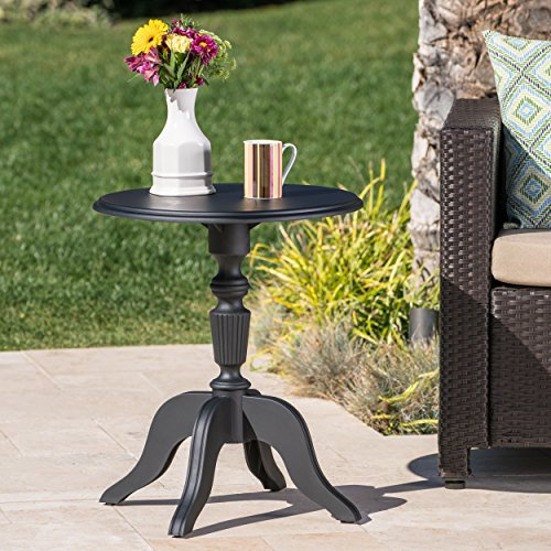Cheap Christopher Knight Home Eco-Cross Patio Furniture |Outdoor Side Table | 100% Post Consumer Recycled Nylon | in Classical Black