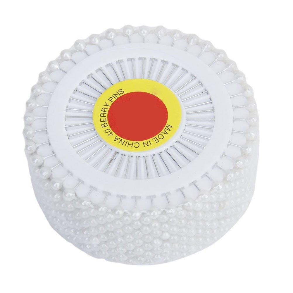 OUNONA 480 piezas Alfileres Cabeza de Perla Alfileres Acero Inoxidable para coser DIY Arte decoració n (Blanco)