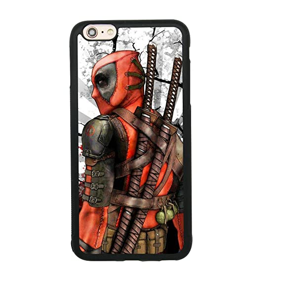 Amazon.com: Ninja Deadpool Fan Art Case for iPhone 6 Plus/6S ...