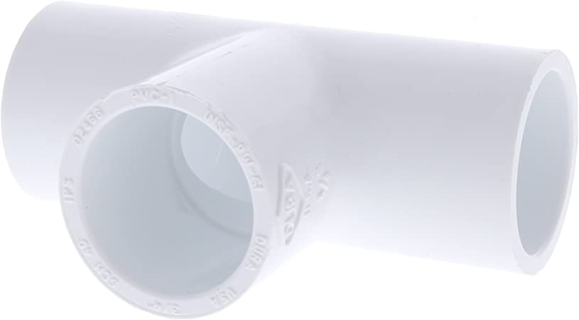 "3//4/"" x 3//4/"" x 3//4/"" Dura PVC Slip Tee Schedule 40 White 10 Pack"